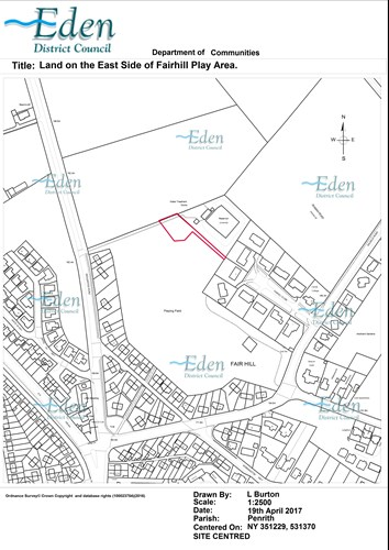Plan of Fairhill showing boundary of land to be sold