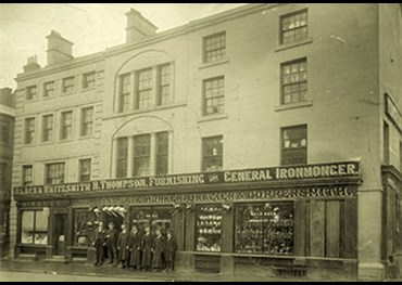 Henry Thompson furnishing and general ironmonger Market Square Penrith c1900