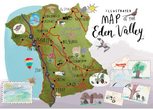 Illustrated map of the Eden Valley