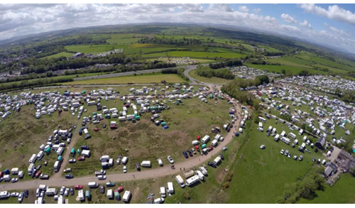 Aerial view of Appleby Fair showground courtesy of Tom Lloyd Lloyd&Coleman